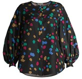 Thumbnail for your product : Lafayette 148 New York, Plus Size Sicilia Dotted Silk Blouse