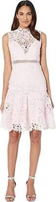 Bardot Women's high lace Neckline Slim fit Silhouette Party Dress