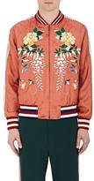 Gucci Men's Flower-Embroidered Bomber Jacket