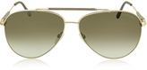 Tom Ford RICK FT0378 28J Gold Brown Metal Aviator Sunglasses