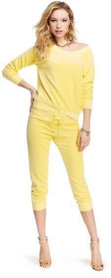 Juicy Couture Slim Crop Pant in Velour