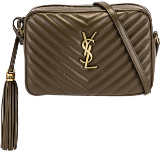 Saint Laurent Medium Lou Satchel in Vert Anemone | FWRD