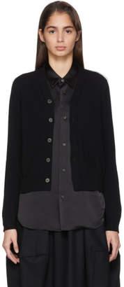 Comme des Garcons Black Wool Jersey Cardigan