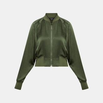 Theory Satin Raglan Track Jacket