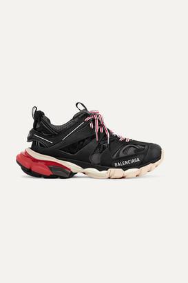 Balenciaga Track Logo-detailed Mesh And Rubber Sneakers - Black
