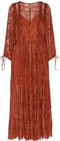 Zimmermann Alchemy Broderie Anglaise Silk-georgette Dress - Orange