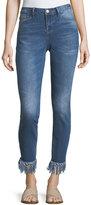 Nanette Nanette Lepore Fringed-Hem Skinny Jeans
