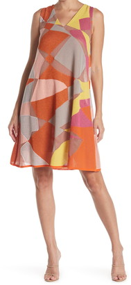M Missoni V-Neck Patterned Swing Dress