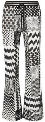 Missoni Patchwork Crochet-knit Flared Pants