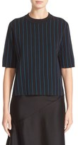DKNY Pinstripe Double Face Merino Wool Sweater