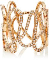 Repossi Women's White Diamond & Pink Gold White Noise Ring-PINK