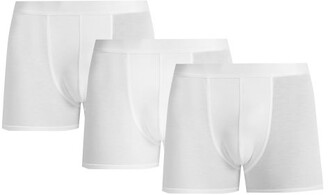 Cdlp - Pack Of Three Jersey Boxer Briefs - Mens - White