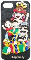 Dolce & Gabbana family patch iPhone 7 case - women - Calf Leather/Leather/plastic - One Size