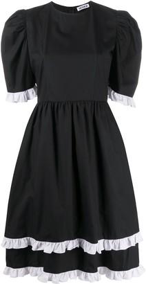 Batsheva Ruffle-Trimmed Puff Sleeved Dress