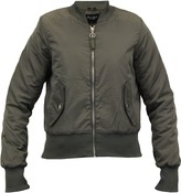 Thumbnail for your product : Brave Soul Womens Army 2 MA1 Bomber Jacket Khaki Green -Medium 12