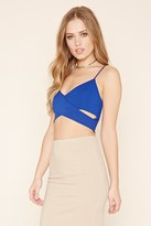 Forever 21 FOREVER 21+ Crisscross-Cutout Cropped Cami