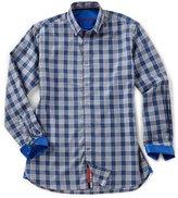 Visconti Plaid Houndstooth Long-Sleeve Woven Shirt