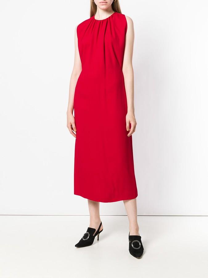 Thumbnail for your product : Derek Lam Sleeveless Shirred Mock Neck Dress