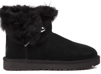 UGG Classic Fluff Black Sheep Ankle Boots