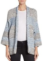 Vince Striped Open-Front Cardigan