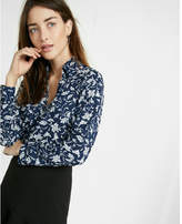 Express Slim Fit Printed No Pocket Portofino Shirt