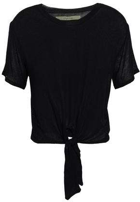 Enza Costa Tie-front Stretch-jersey T-shirt