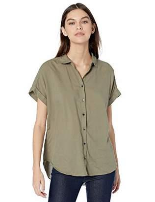 Goodthreads Lightweight Poplin Short-sleeve Button-front ShirtXL