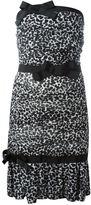 Moschino strapless animal print dress