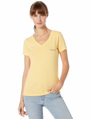 Margaritaville Women's Flip Flop Classic Fit V-Neck Graphic Short Sleeve T-Shirt