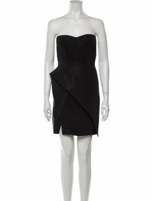 J. Mendel Silk Mini Dress Black