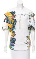 Roberto Cavalli Printed Short Sleeve Top