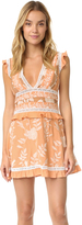 For Love & Lemons Mia Paneled Mini Dress