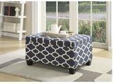 Pulaski Furniture Jessa Ocean Blue Storage Ottoman