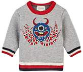 Gucci Monster-Embroidered Cotton Sweatshirt