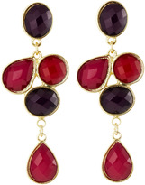 Greenbeads Combo Cluster Earrings, Pink
