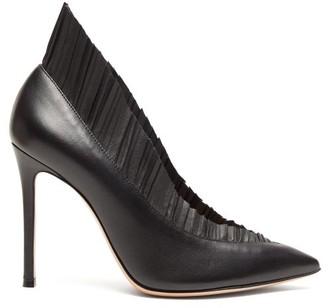 Gianvito Rossi Gianvito 105 Pleated-trim Leather Pumps - Womens - Black