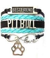 Generic Braided Pit Bull Bracelet Best Friend Dog Paw Charm