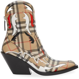 Burberry Matlock Vintage Check Western Boots