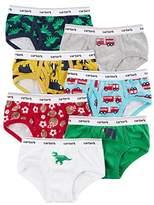 Carter's Boys' 7 Pack Dinosaur And Firetruck UnderwearT