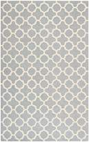 Safavieh Cambridge Collection CAM130D Handmade Silver and Ivory Wool Area Rug, 5 feet by 8 feet