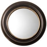 Threshold Round Wide Patina Mirror