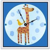 Green Leaf Art Giraffe & Bird Decorative Art Clock