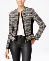 XOXO Juniors' Cropped Embellished Jacket