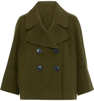 Elie Tahari Edna Double-breasted Wool-felt Coat