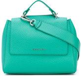 Orciani logo plaque shoulder bag - women - Cotton/Leather - One Size