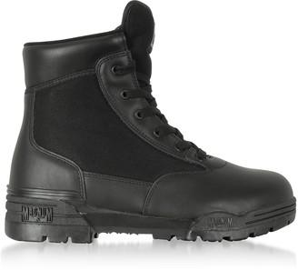 Hi-Tec Magnum 6 Classic Black Mesh and Leather Unisex Boots