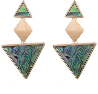 Panacea Abstract Geometric Triangle Drop Earrings