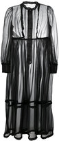 Maison Margiela sheer long shirt dress - women - Polyester - 40