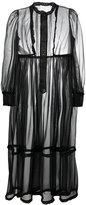 Maison Margiela sheer long shirt dress - women - Polyester - 40