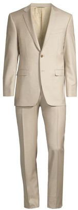 Canali Modern-Fit Mid-Rise Single-Breasted Wool Suit
